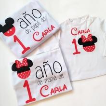 Pack camisetas cumpleaños Mickey/Minnie
