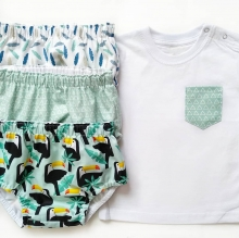 Conjunto camiseta y cubrepañal Niño/ Niña Varios estampados