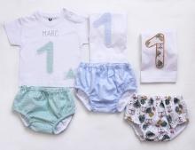 Conjunto Camiseta+Cubrepañal  Niño/Niña Varios estampados