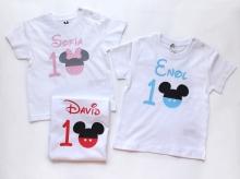 Camiseta cumpleaños Minnie/Mickey personalizada