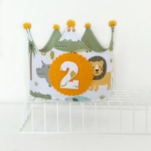 Corona cumpleaños Animales de la selva