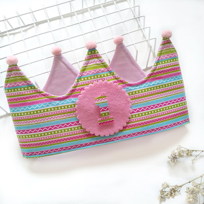 Corona cumpleaños Zig-zag multicolor