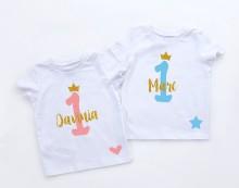 Camiseta cumpleaños Príncipe/Princesa personalizada Varios colores