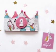 Corona cumpleaños Unicornios