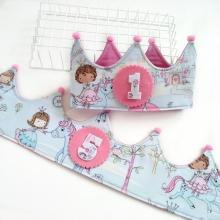 Corona Cumpleaños Princesas y unicornios