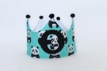 Corona cumpleaños Pandas 2