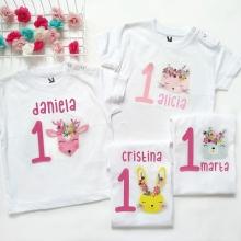 Camiseta cumpleaños Animalitos