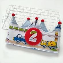Corona cumpleaños Transportes